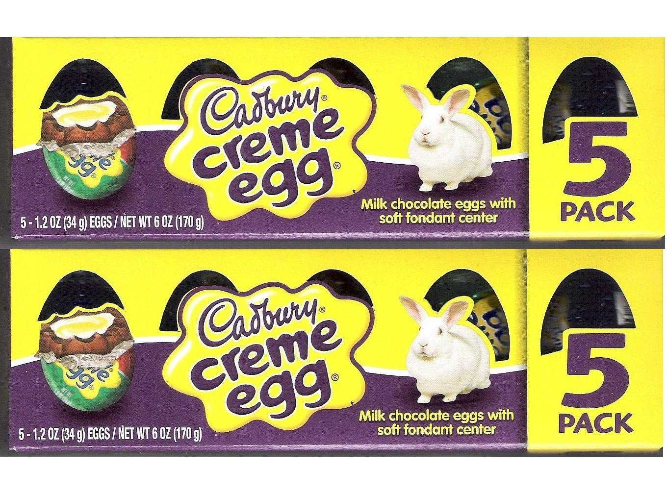 Cadbury chocolates sold by The Yummy Palette Creme Eggs 5 Count (Pack of 2)