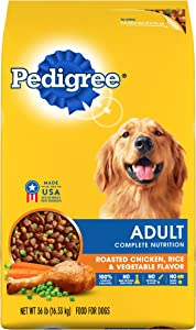 PEDIGREE Complete Nutrition Adult Dry Dog Food Roasted Chicken, Rice & Vegetable Flavor Dog Kibble, 36 lb. Bag
