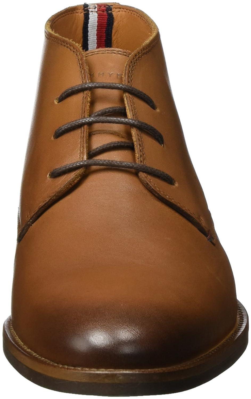 34006a1b1bd64e ... Tommy Hilfiger Herren Braun Essential Leather Chukka Boots Braun Herren  (Winter Cognac) 18a17d ...