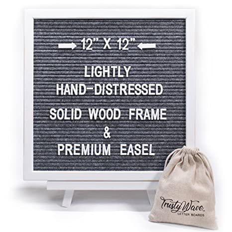 white gray solid wood office. Felt Letter Board, Heather Gray | 12x12 Inch White Rustic Distressed Solid  Wood Frame \u0026 White Gray Solid Wood Office W