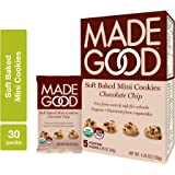 MadeGood Soft Baked Chocolate Chip Mini Cookies, 6 boxes (30 ct); Nut-Free, Gluten Free, Allergy Friendly, USDA…