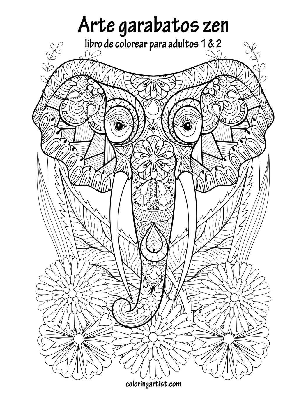 Amazoncom Arte Garabatos Zen Libro Para Colorear Para