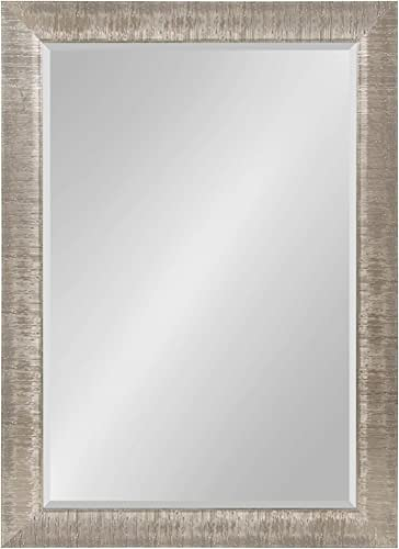 Kate and Laurel Reyna Large Framed Rectangle Wall Mirror, 30×42 Silver