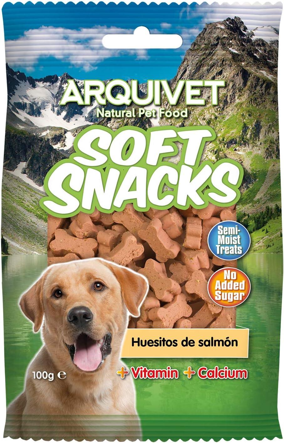 Arquivet Soft Snacks para perro Huesitos salmón 100 g
