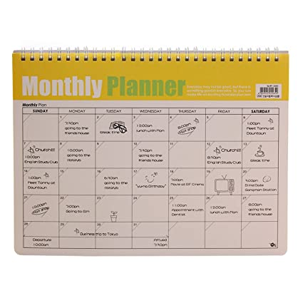 monthly study planner
