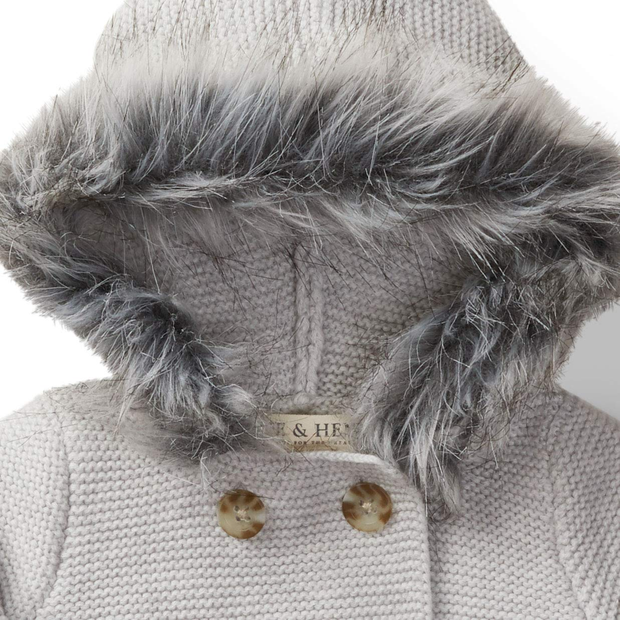 Hope /& Henry Layette Sweater with Hood