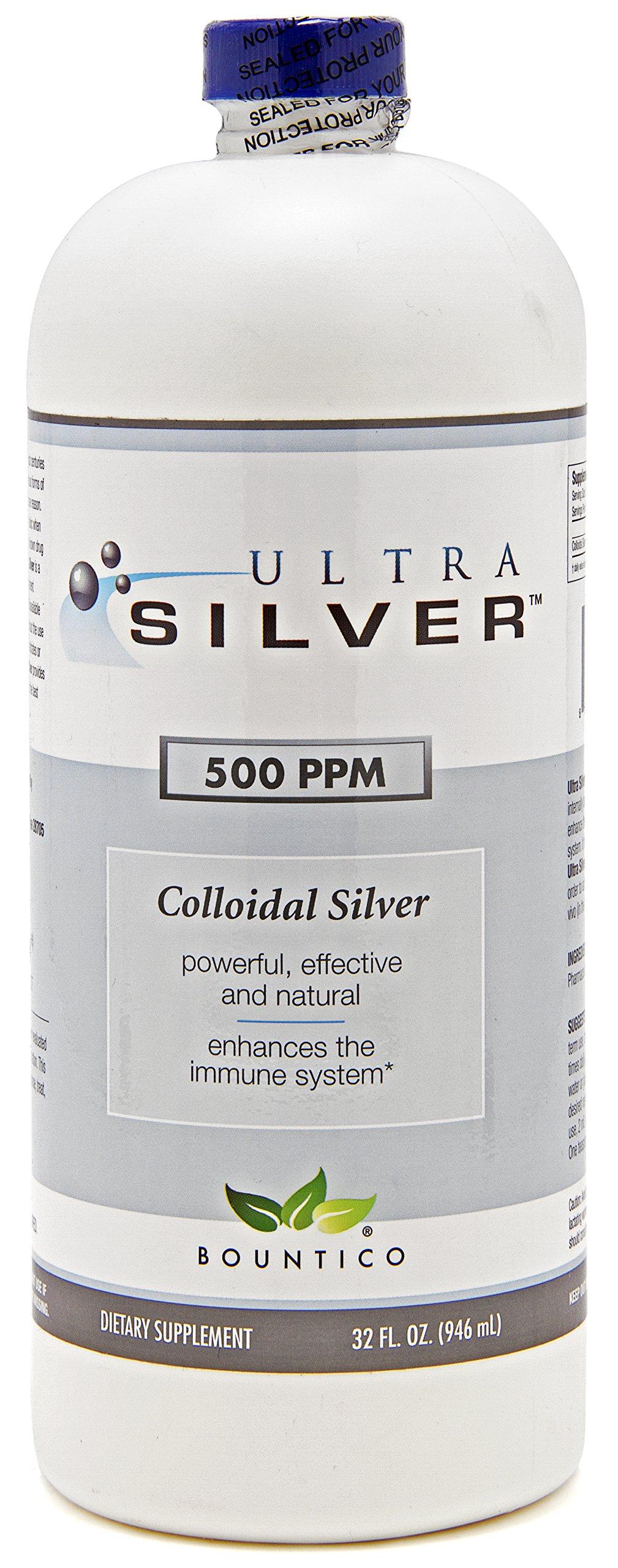 Ultra Silver Colloidal Silver 500 PPM - 32 Oz by Ultra Silver