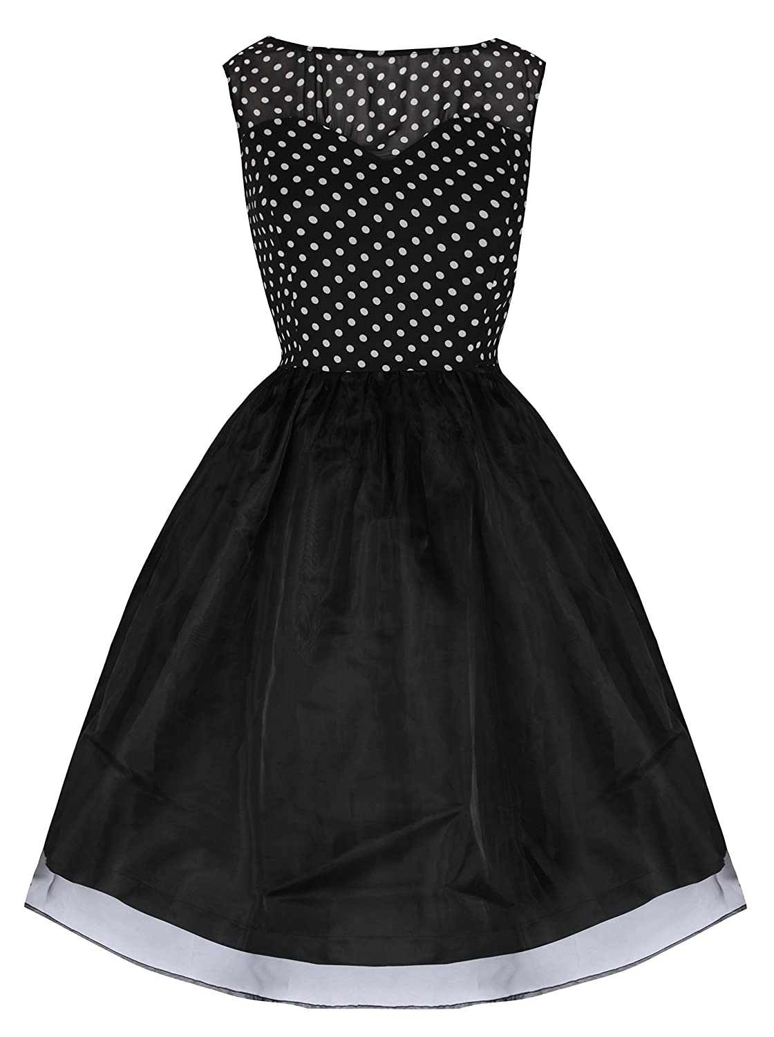 Vintage Inspired Halloween Costumes Lindy Bop Violetta Delightfully Adorable 50s Inspired Polka Swing Dress $15.00 AT vintagedancer.com