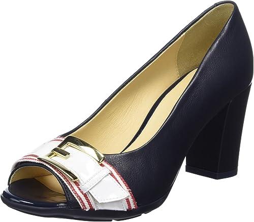 Geox D Annya Spuntato C, Zapatos de tacón con Punta Abierta Mujer