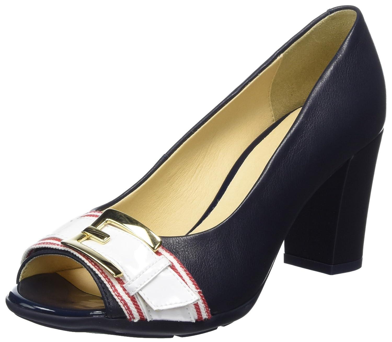 Geox D Annya Spuntato C, Zapatos de tacón con Punta Abierta para Mujer