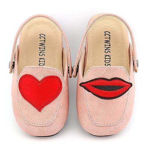 fdd71af56f17 CCTWINS KIDS Toddler Baby Girl Fashion Mules Slip-On Flat Shoe Pink