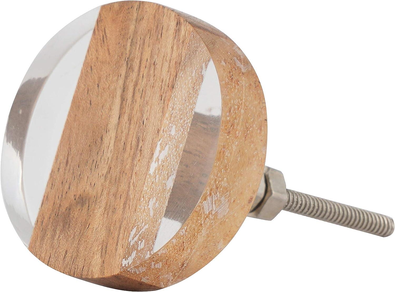tocadores y cajones Juego de 4 pomos y tiradores de madera y resina para armarios
