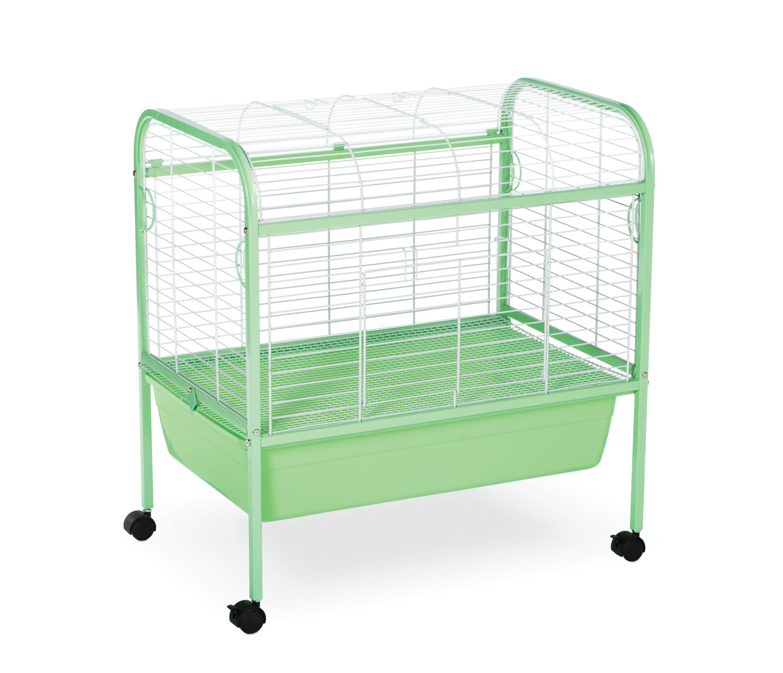 Prevue Pet Products Small Animal Cage with Stand 320 Green and White, 29-Inch by 19-Inch by 31-Inch