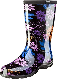 product image for Sloggers Women's Waterproof Rain and Garden Boot with Comfort Insole, Flower Power, Size 7, Style 5016FP07