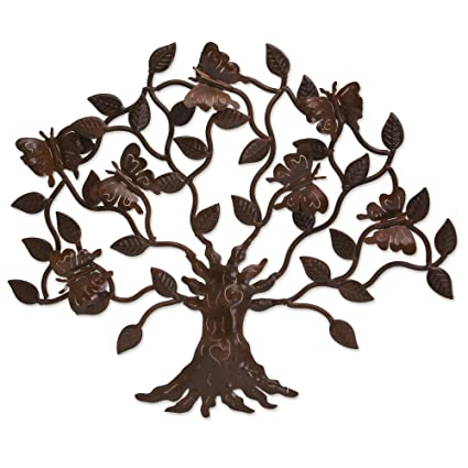 Amazon.com: NOVICA Artisan Crafted Large Cutout Iron Outdoor Wall ...