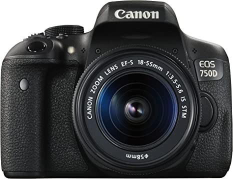 Canon EOS 750D - Cámara réflex digital de 24.2 MP (Kit con ...