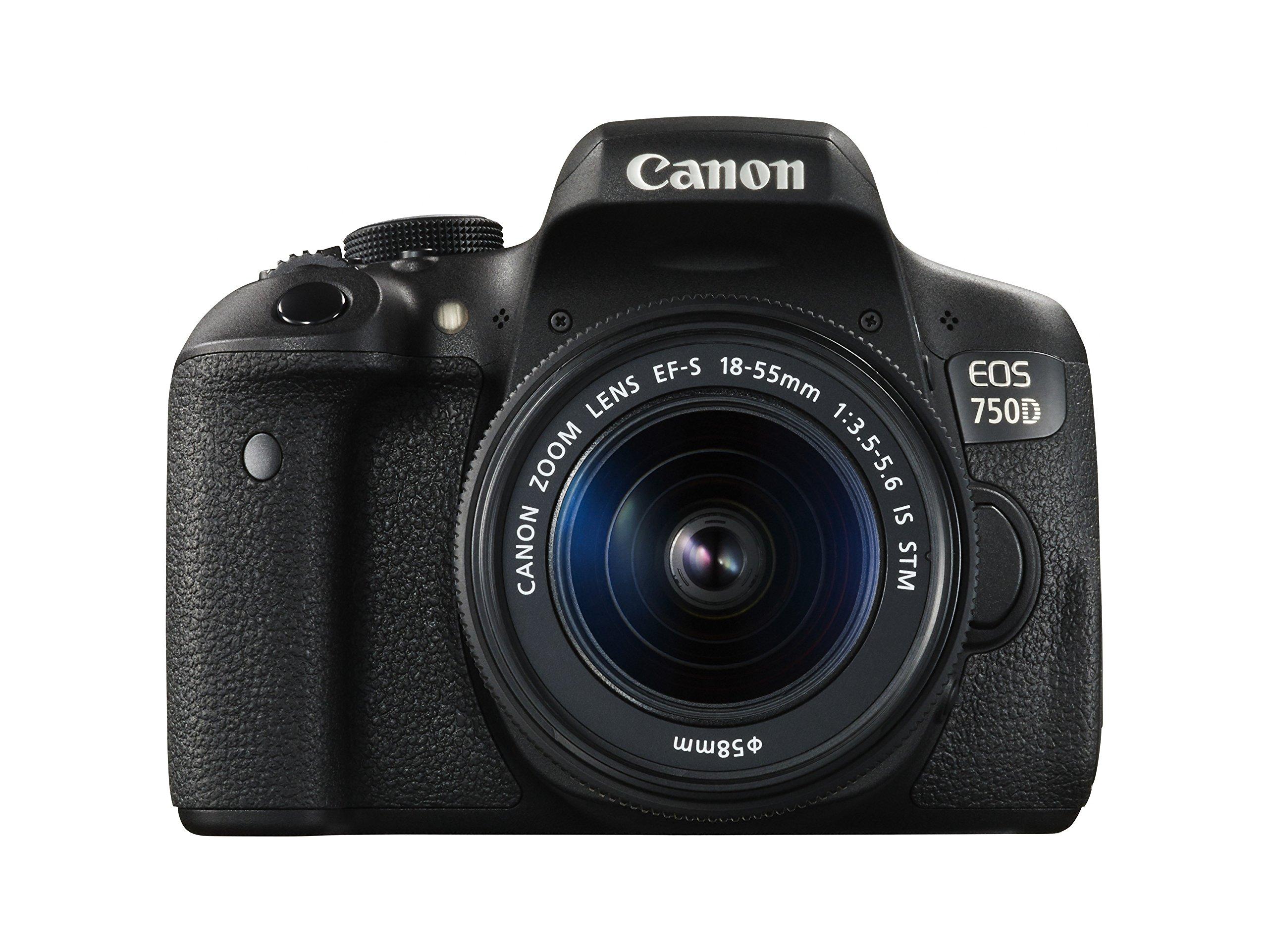 Canon EOS 750D Kit Fotocamera Reflex Digitale da 24 Megapixel con Obiettivo EF-S 18-55 mm IS STM, Nero/Antracite product image