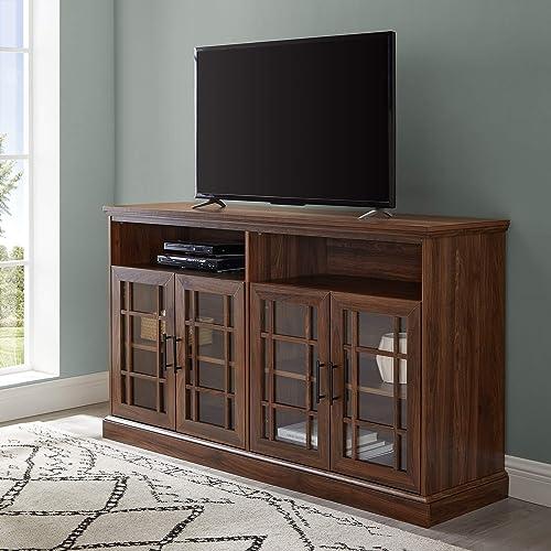 WE Furniture TV Stand, 58 , Dark Walnut