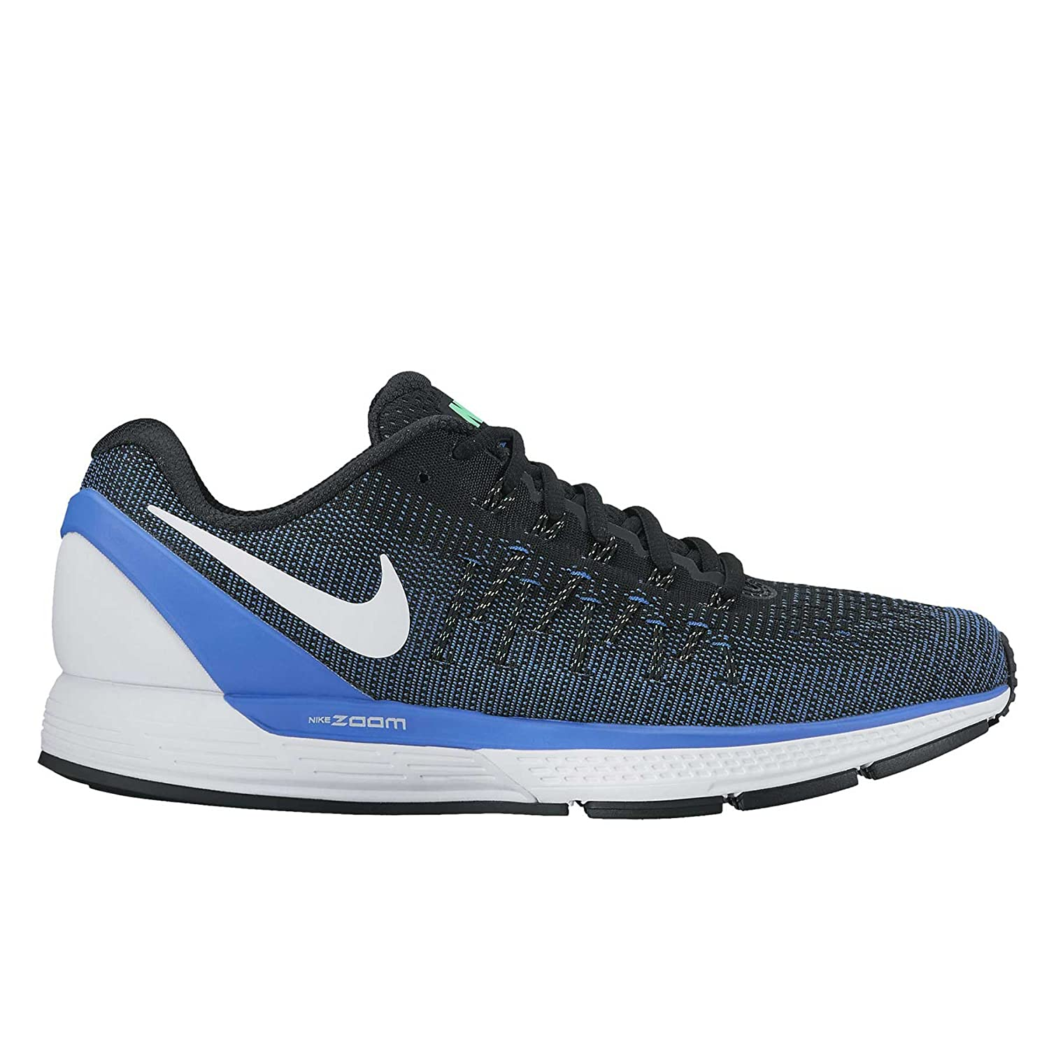 Nike Air Zoom Odyssey 2, Zapatillas de Running para Hombre 42.5 EU|Negro (Black/Medium Blue/Summit White)