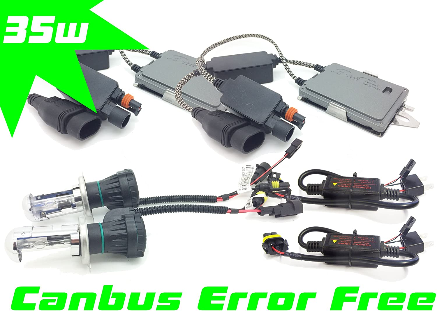 Does not apply 35WCANH4-10K H4 Bi-Xenon HID Conversion Kit Set Pair Canbus 10000K