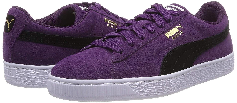 Puma Suede Classic Low Top Sneakers, Shadow Purple Puma Black Puma White, 5.5 UK