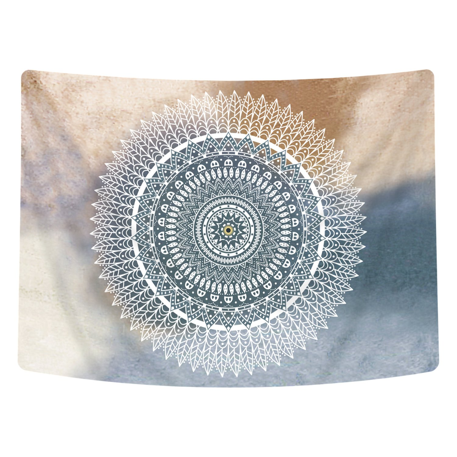 Sunm boutique India Mandala Tapestry Wall Hanging Wall Décor Picnic Blanket Tapestry Bedding Dorm Tapestry (Multicolored, 59.1'' X 59.1'')