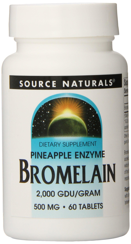 SOURCE NATURALS Bromelain 2000 Tablet, 60 Count