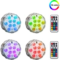 4 Pack LED Luces Sumergibles con mando a