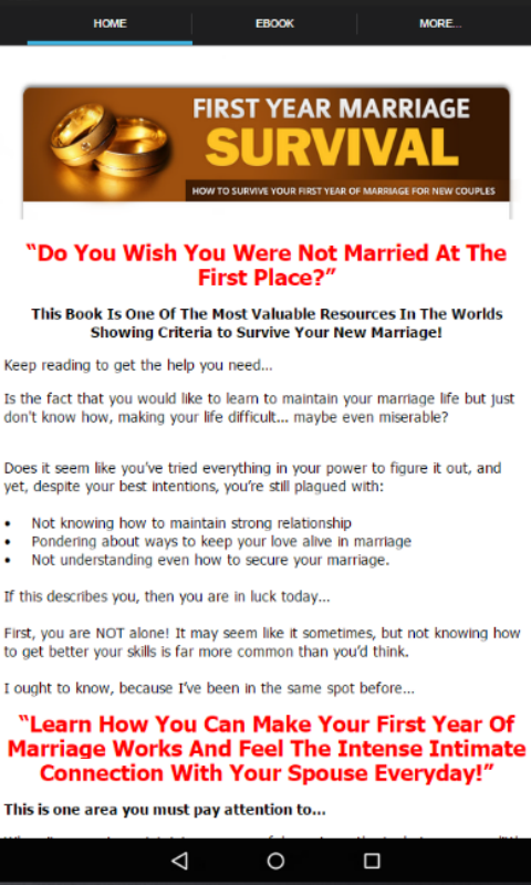 Amazon Com 1st Year Marriage Survival Appstore For Android