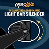 AeroLidz Universal 50 52 inch Wind Diffuser Clear Aerodynamic LED Light Bar Silencer Cover Noise Reducer