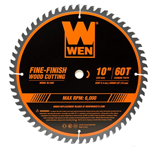 WEN BL1060 - Hoja de sierra de carpintería profesional para sierra ...