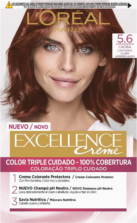 LOréal Paris Excellence Creme Tinte Tono 5.6 Caoba - 50 ml