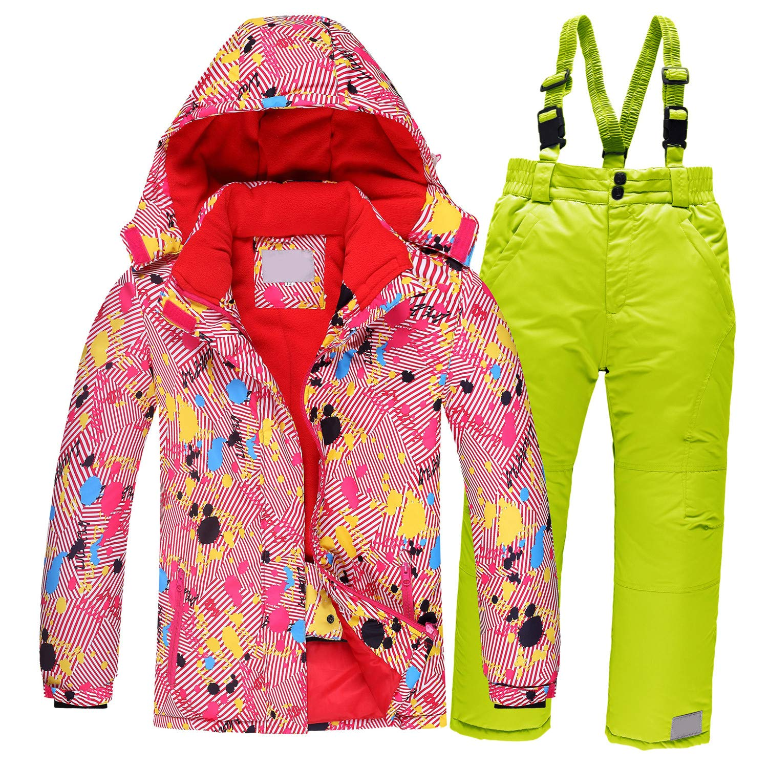 Children Ski Suit Windproof Warm Girls Clothing Set Jacket Overalls Boys Clothes 3-16 Years