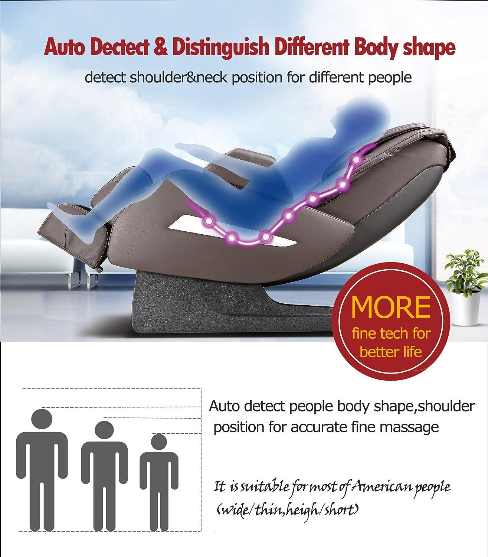 Amazon Full Body Zero Gravity Shiatsu Massage Chair Recliner