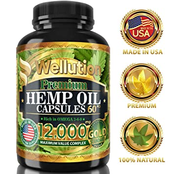 Amazon.com: Cápsulas de extracto de aceite de cáñamo 12000 ...