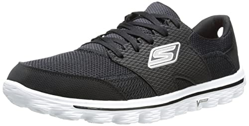 Skechers GO Walk 2 Flash - Zapatillas para hombre, color Negro (Black/Grey), talla 41