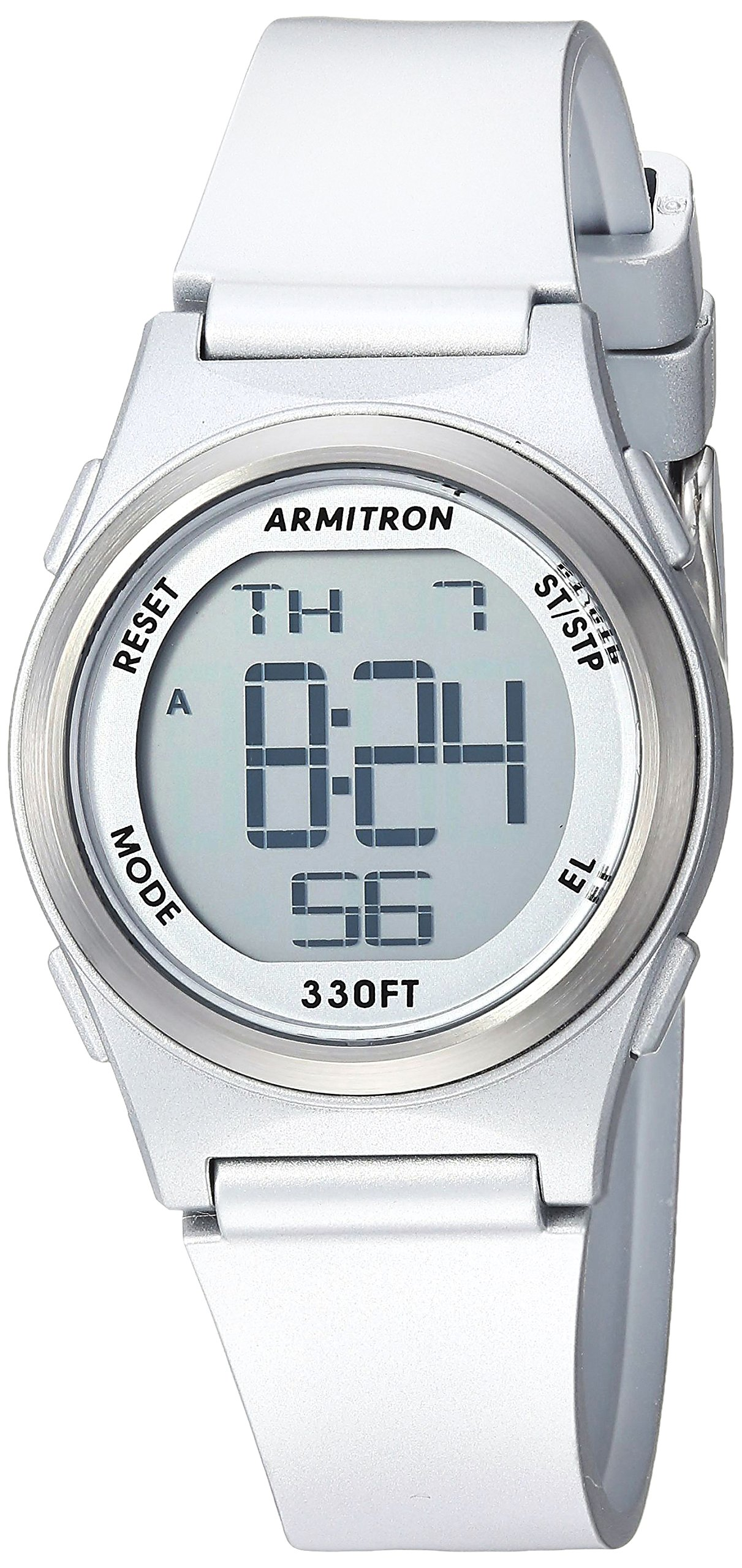 Armitron Sport Women's Digital Chronograph Silver-Tone Resin Strap Watch by Armitron Sport