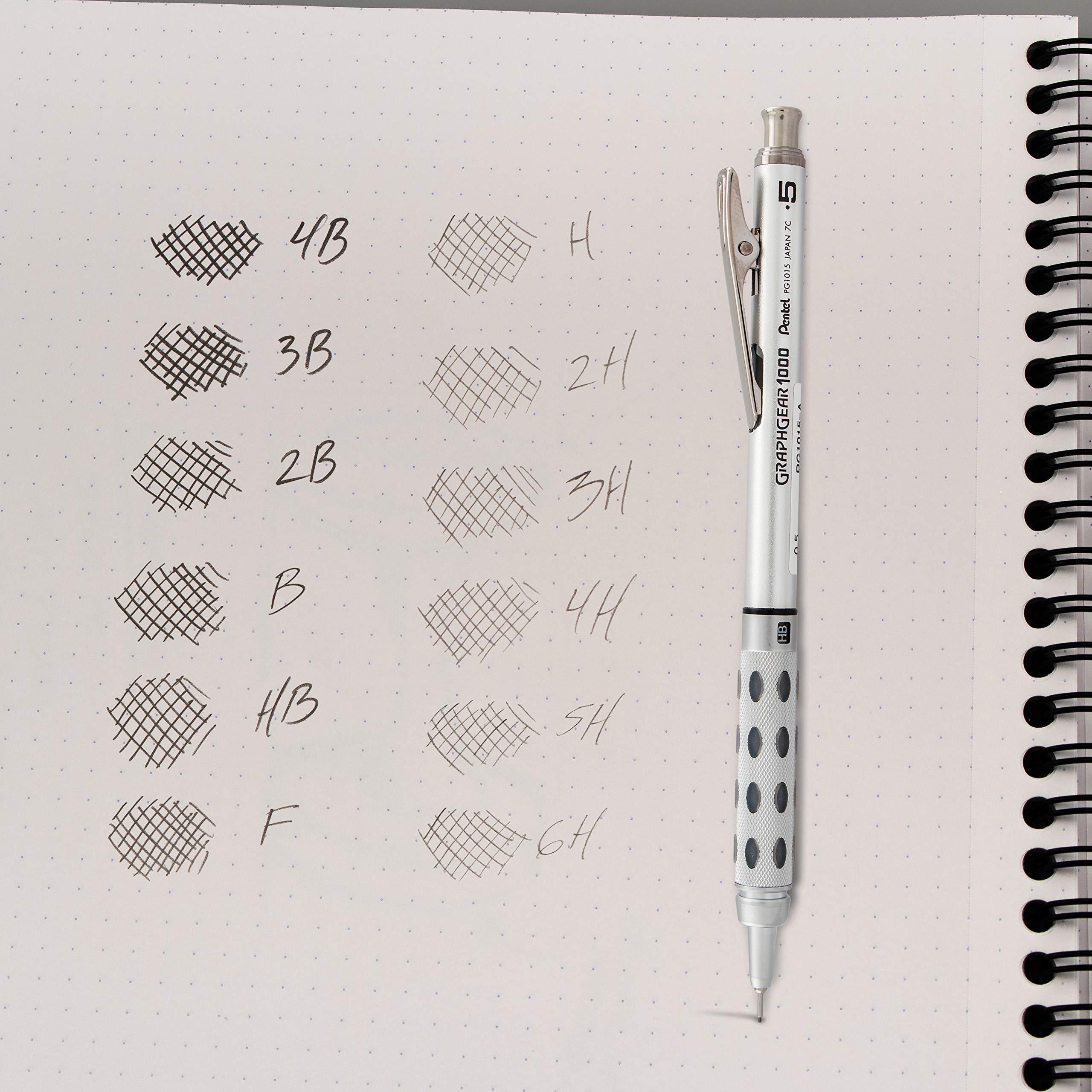 Pentel Super Hi-Polymer Lead Refill, 0.5mm, Fine, 2B, 144 Pieces of Lead (C505-2B) by Pentel (Image #7)