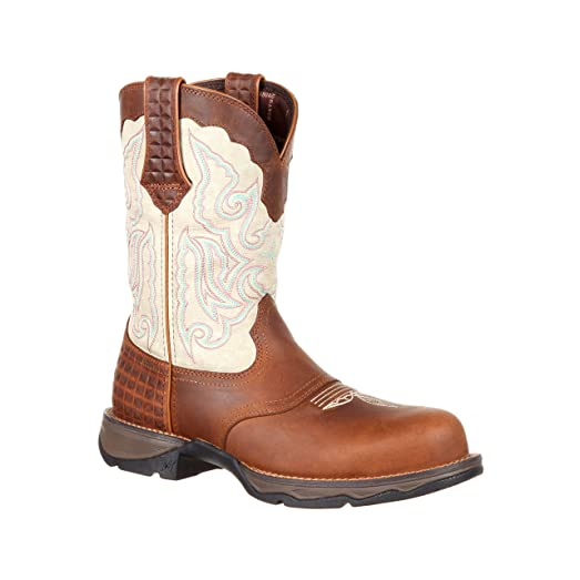 "Lady Rebel by Women's 10"" Composite Toe Saddle Western Boot-DRD0194"