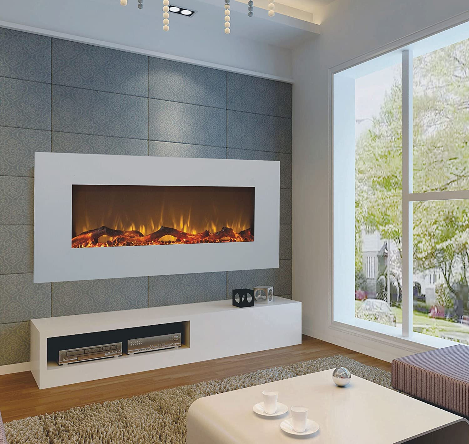 l com home anywhere amazon electric stainless dp fireplace soho wall steel mount kitchen