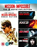 Mission Impossible 1-5 [Blu-ray] [Region Free]