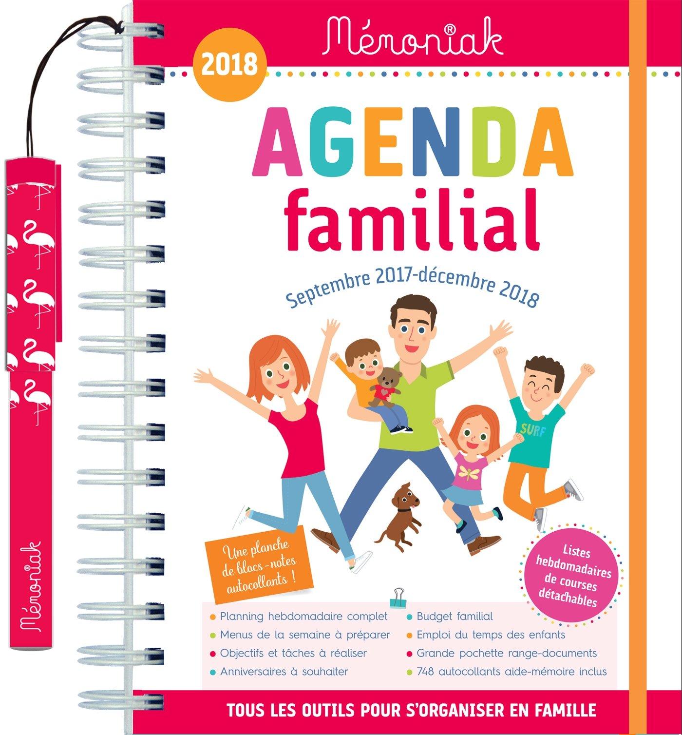 Agenda familial Mémoniak 2017-2018: 9782351558829: Amazon ...