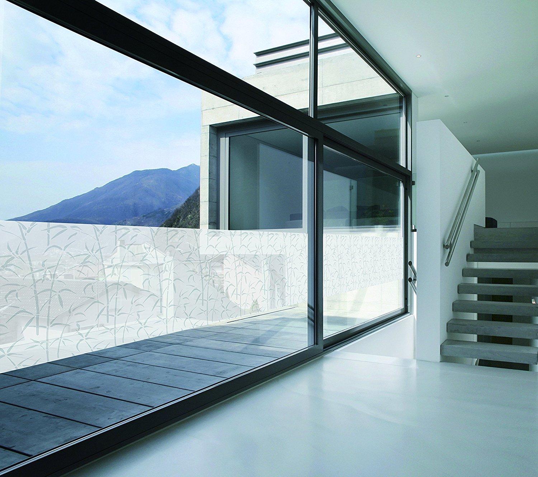 d c fix glass transparent Design bamboo weiss 90 x 1500 cm
