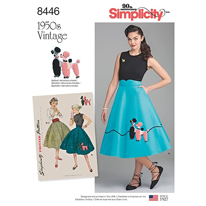 Poodle Skirts | Poodle Skirt Costumes, Patterns, History Simplicity Vintage