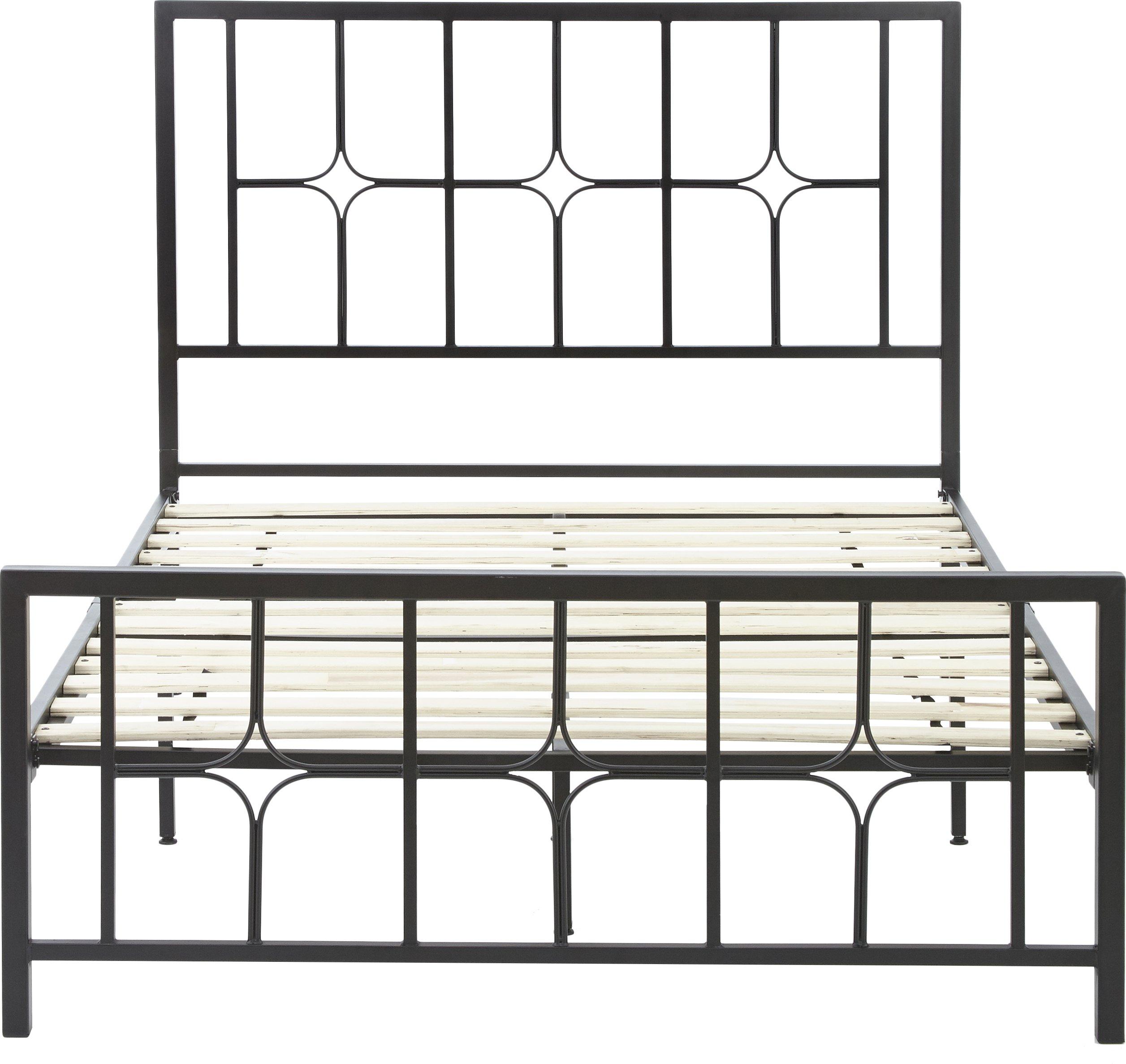 Flex Form Lydia Metal Platform Bed Frame / Mattress Foundation with Headboard and Footboard, King by Flex Form (Image #5)