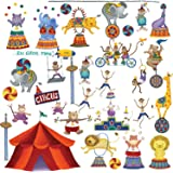 RoomMates RMK1266SCS Big Top Circus Peel & Stick Wall Decals