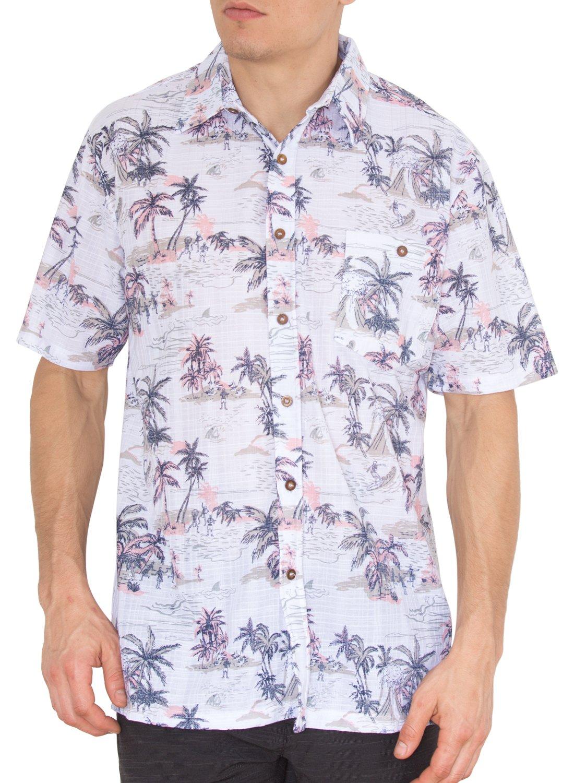 Nob Hill Mens Aloha Hawaiian Shirt Short Sleeve Button Down Summer Shirts Tropical 2XL