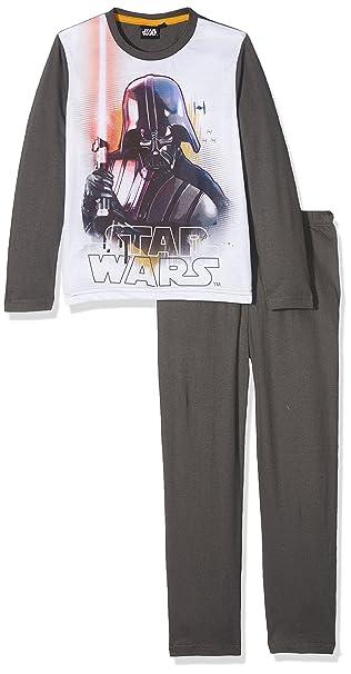 FABTASTICS Star Wars, Pijama para Niños, Blanco (White 001), 6 Años