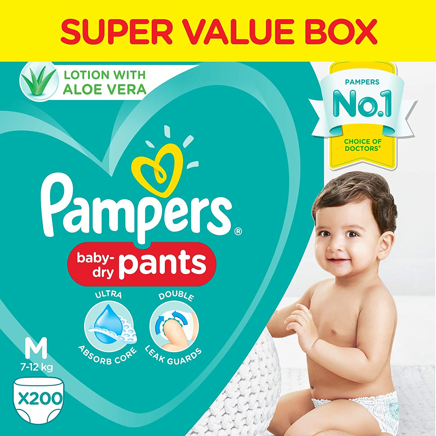 Pampers Pants, Medium size, 200 Count