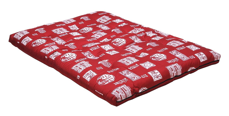 Weber Industries 1104 Contemporain Siam Matelas de Futon Rouge 140 x 200 cm